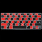 "Protective TPU Keyboard Guard Cover for MacBook Air 13.3"" - Black + Red"