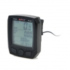 "BoGeer YT-833 1.8"" LCD Bicycle Stopwatch - Black (1 x CR2032)"