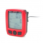 "BoGeer YT-833 1,8 ""LCD Bicycle Stoppuhr - Red + Black (1 x CR2032)"