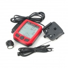 "BoGeer YT-833 1.8"" LCD Bicycle Stopwatch - Red + Black (1 x CR2032)"