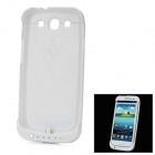 "Rechargeable ""3200mAh"" External Power Battery Back Case Ständer für Samsung Galaxy S3 i9300 - White"