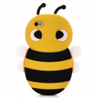 Cute Bee Shape Protective Soft Silicone Back Case for Iphone 4 / 4S - Deep Yellow + Black + White