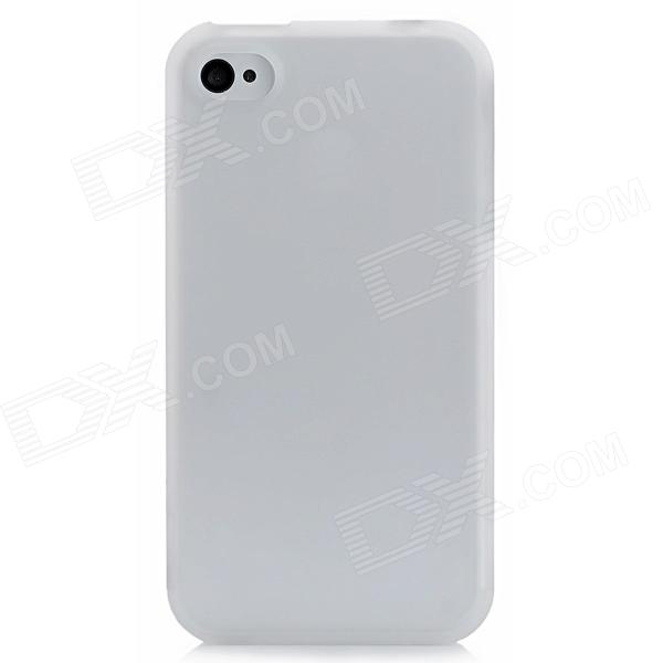 Protective Thicken Plastic Back Case for iPhone 4S - Translucent White