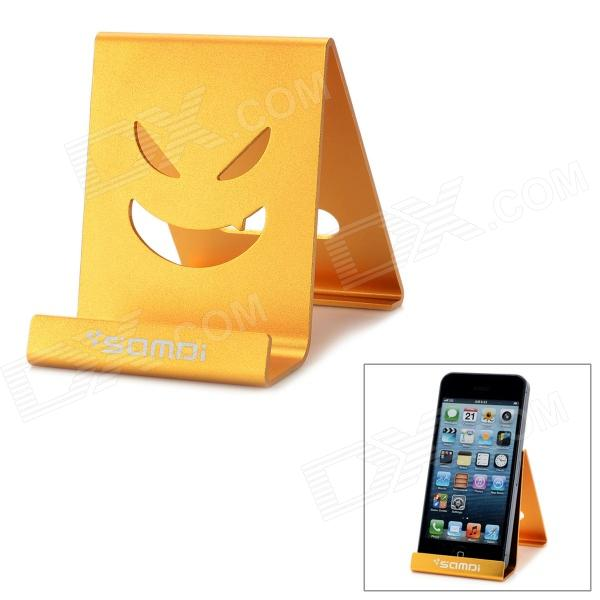 Samdi SIN2 Aluminum Alloy Holder Stand for Cellphone / GPS / Tablet PC - Golden Yellow секатор плоскостной 180 мм