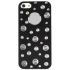 Protective Plastic Case for Iphone 5 - Black + Silver