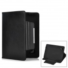 "Protective Lichee Pattern Flip Open PU Case for 8"" Tablet PC - Black"