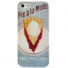 Retro   Pie Pattern Protective Plastic Back Case for Iphone 5 - Light Blue + White + Yellow