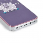 Cute Running Elephant Pattern Protective Plastic Back Case for Iphone 5 - Deep Purple + Pink