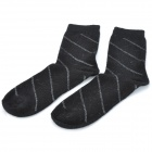 Gentry Carriage C3324 Rabbit Hair Socks for Men - Black (Pair)