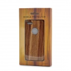 Detachable Protective Wooden Case for Iphone 5 - Brown + Black