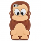Cute Monkey Style Protective Soft Silicone Back Case for Iphone 5 - Coffee + Beige