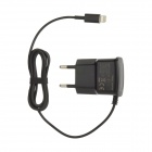AC Power Charger Adapter w/ Lightning 8-Pin Male Cable for iPhone 5 - Black (100~240V / EU Plug)