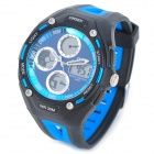 OHSEN AD1202-BL Men's Sport Analog + Digital Quartz Wrist Watch - Black + Blue (1 x SR626)