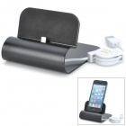 Lightning 8-Pin Male Data Sync / Charging Dock Station for iPhone 5 / iPad 4 / iPod Touch 5 - Black