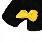 QQ Penguin Shaped Cotton Velvet Dog Apparel Pet Cloth - Black + White (Size XL)