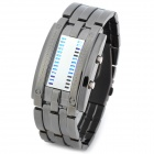 Skmei 0926 Waterproof Couple Men's Rectangle Zinc Alloy LED Electronic Wrist Watch - Black + Silver