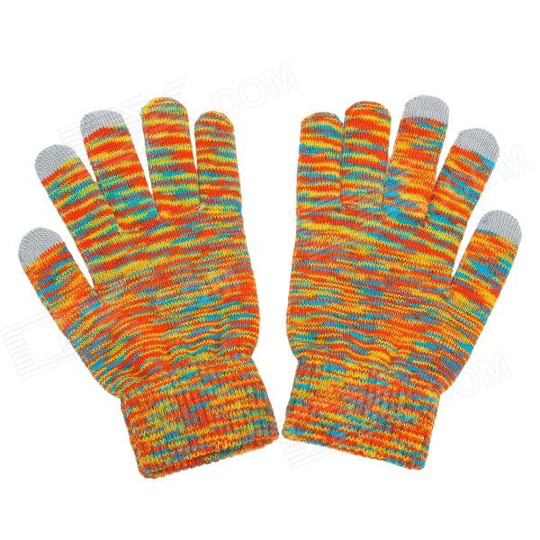 Capacitive Screen Touching Hand Warmer Gloves for Iphone 5 + Ipad - Yellow