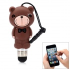Cute Cartoon Monkey Shape Capacitive Touch Screen Stylus w/ 3.5mm Anti-Dust Plug - Coffee