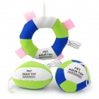 Professional Pet Dog Swimming Cotton Floating Aqua Toy - Green + Blue + White (3 PCS)