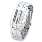 Skmei 0953L Waterproof Couple Women's Rectangle Zinc Alloy LED Electronic Wrist Watch - Silver