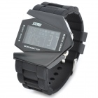 Skmei 0817 Fighter Aircraft Style Zinc Alloy Electronic Digital Wrist Watch w/ Backlight - Black