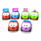 BAIYUAN BY-675 Funny QQ Engineering Team Vehicles Toys - Green + Red + Blue + Black + White + Purple