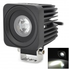 XLLED810W 10W 700lm 6500K LED White Light Working Lamp / Foglight / Scheinwerfer - Schwarz (10 ~ 30V)