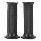 Universal DIY Motorcycle Rubber Handle Grips Cover - Black (Pair)