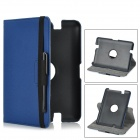"PU Leather 360 Degree Rotatable Case w/ Stylus Pen for Amazon Kindle Fire HD 7"" - Deep Blue"
