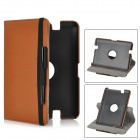"Protective PU Leather 360 Degree Rotatable Case w/ Stylus Pen for Amazon Kindle Fire HD 7"" - Brown"