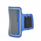 Moda Sports Armband Outdoor para Iphone 4 / 4S - Azul + Preto