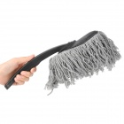 Mini Car Cleaning Dusting Brush w / Grip Handle - Svart + Grå