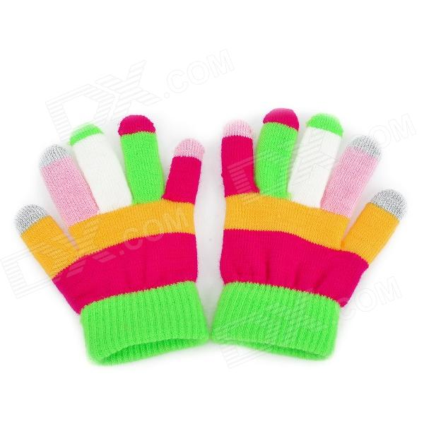 Capacitive Screen Touching Hand Warmer Gloves for Kids - Multicolored