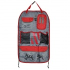 Multifunctional Oxford Fabric Automobile Car Seat Back Hanging Storage Bag Organizer - Red + Grey