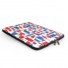 "ENKAY ENK-2003 Check Pattern Heat Transfer Printing Protective Bag for 15"" / 15.4"" Laptop Notebook"