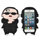 3D PSY Design Gangnam Style Protective Silicone Case for iPhone 5 - Black
