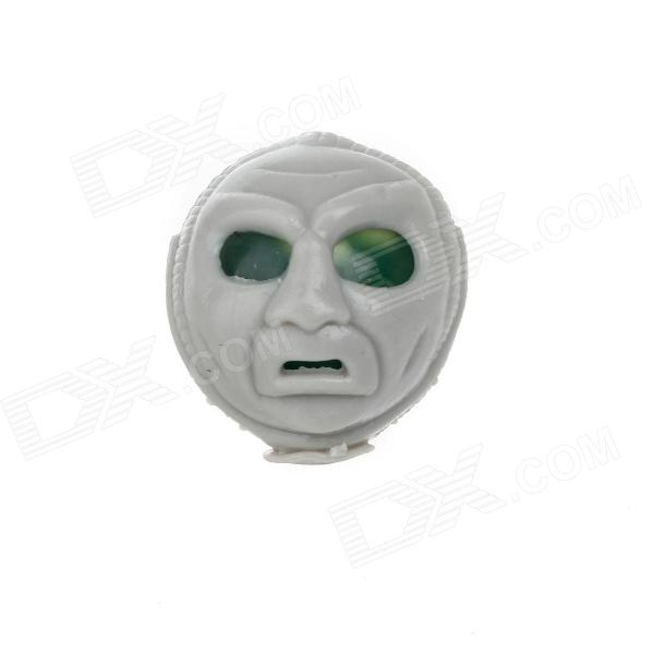See-Thru Skull Head Shaped Stress-Reliever Toy - Grey