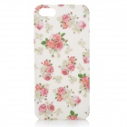 Protective Rose Pattern Plastic Back Case for Iphone 5 - Multicolored