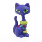 Cute Children's Funny Long Neck Plastic Cat Model Toy - Purple
