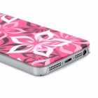 Airwalks Flower Petal Pattern Protective PC Back Case for Iphone 5 - Deep Pink + White + Black