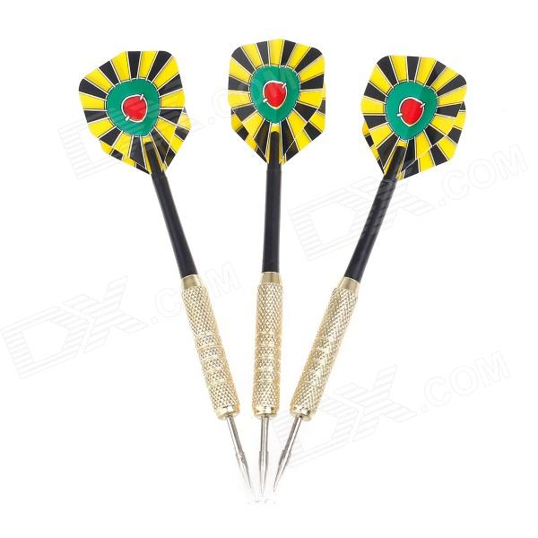 Dartboard Pattern Sharp Knurled Copper-Plated Iron Plastic Darts for Dart Game