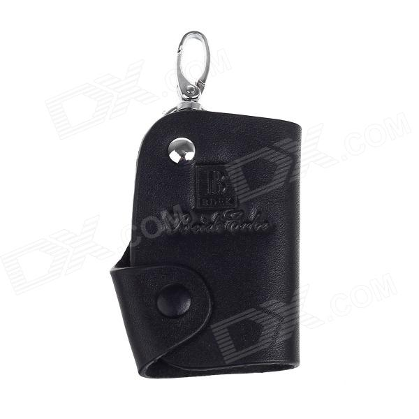 Beidi Erke Genuine Leather Car Key Cover Case - Black ct001 universal genuine leather protective pouch keychain for car smart key black