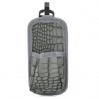 Crocodile Skin Style Car Air Conditional Hanging Storage Bag - Dark Grey