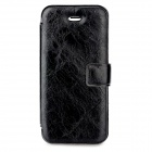 YuBo Protective PU Leather Case for iPhone 5 - Black + Brown