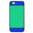 Protective CrystalPlastic Back Case for iPhone 5 - Green + Blue