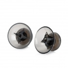 Replacement Plastic Joystick Caps for Xbox 360 Handle - Translucent Black (Pair)