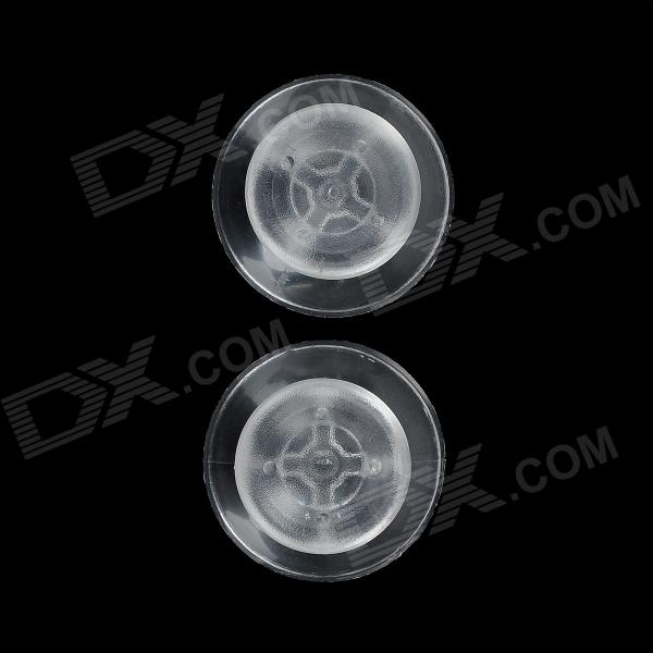 Replacement Plastic Joystick Caps for Xbox 360 Handle - Transparent (Pair)