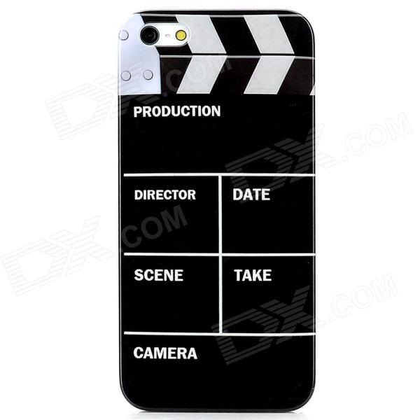 цена Video Editor Pattern Protective Plastic Back Case for Iphone 5 - Black + White