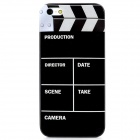 Video Editor Pattern Protective Plastic Back Case for Iphone 5 - Black + White