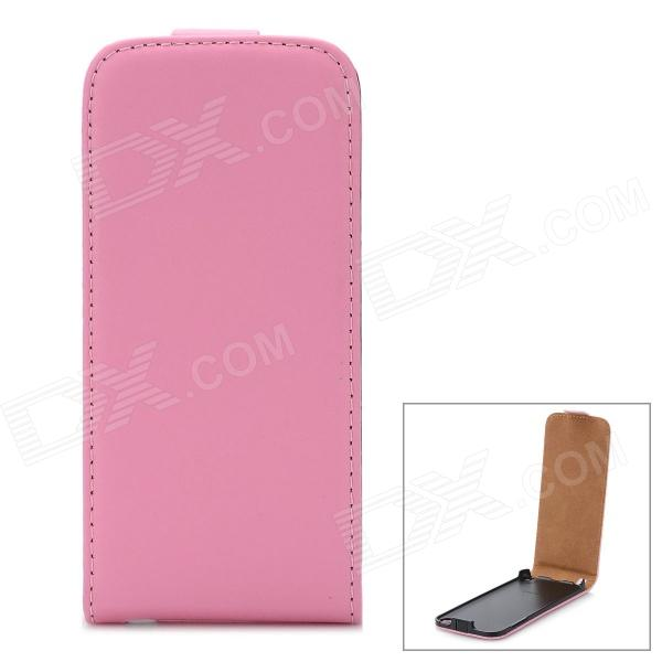 Protective Flip-Open Genuine Leather Case for Ipod Touch 5 - Pink